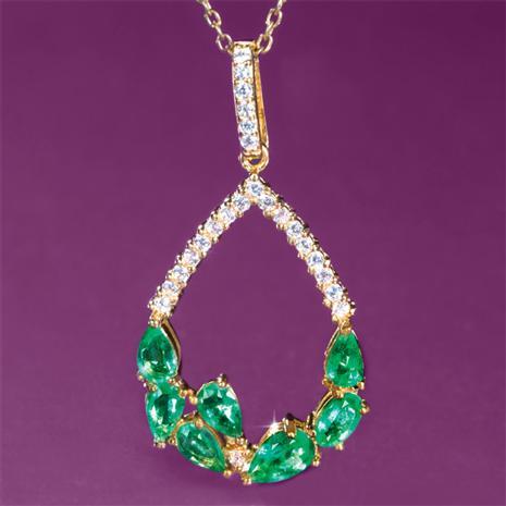 Pride of Zambia Emerald Necklace
