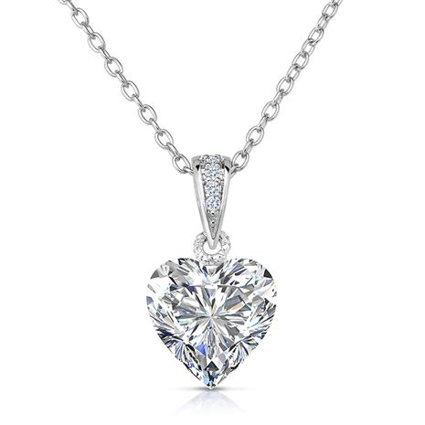 Rock of Love DiamondAura White Heart Pendant