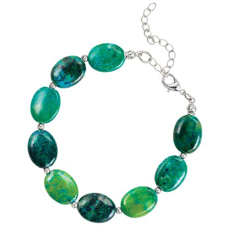 Earth & Sea Chrysocolla Bracelet