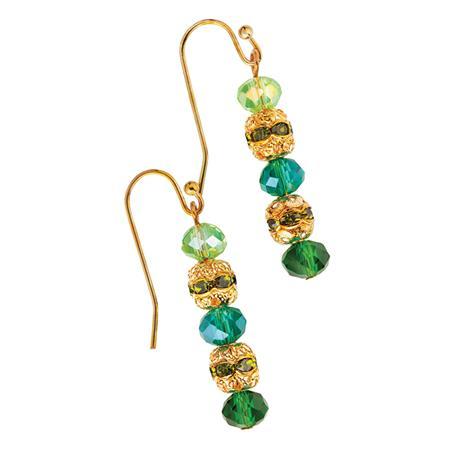 Vetro Bead & Cultured Pearl Earrings