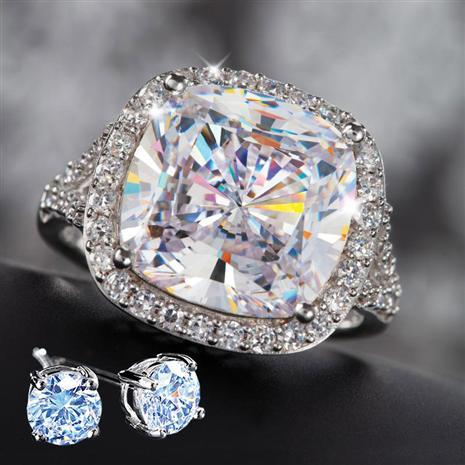 Infinity Diamondaura Ring & FREE DiamondAura Stud Earrings