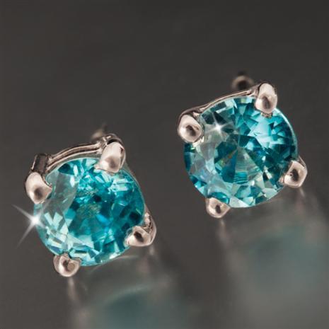 Eterna Blue Zircon Earrings