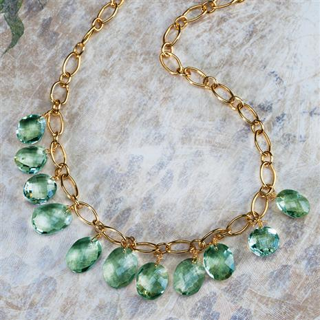 Seychelles Green Amethyst Necklace