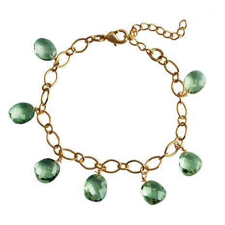 Seychelles Green Amethyst Bracelet
