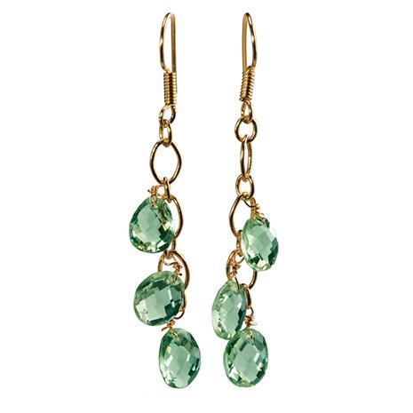 Seychelles Green Amethyst Earrings