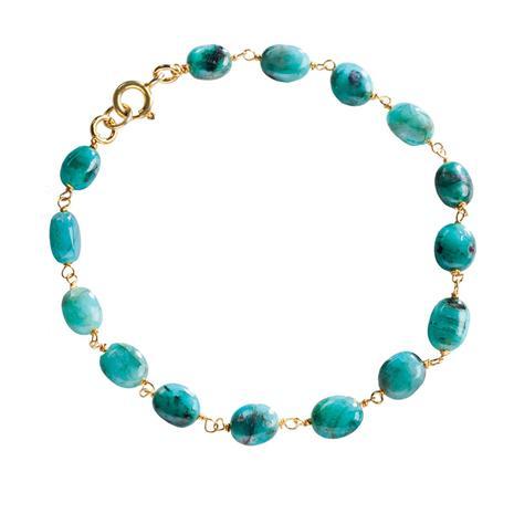 Zambian Emerald Mist Bracelet