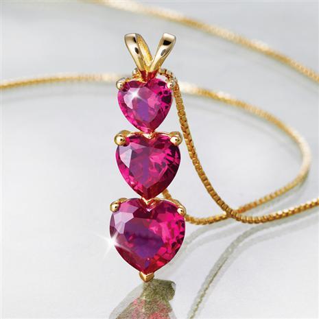 Heart Scienza Ruby Pendant