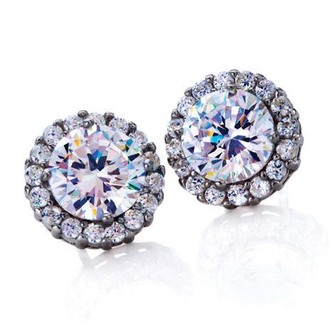 Diamond Aura Crown Earrings