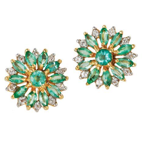 Zambian Emerald Blossom Earrings