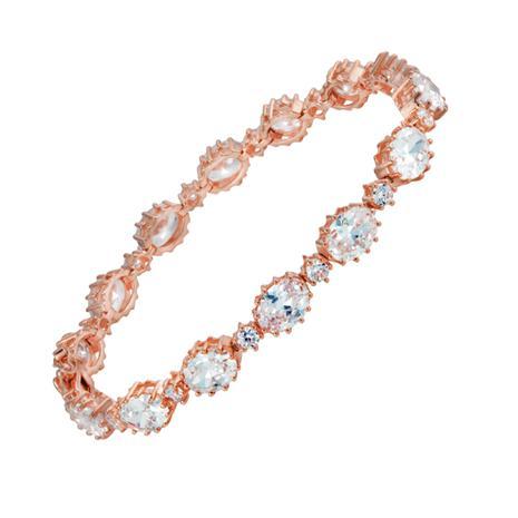 Rose Gold-finished Riviere Bracelet