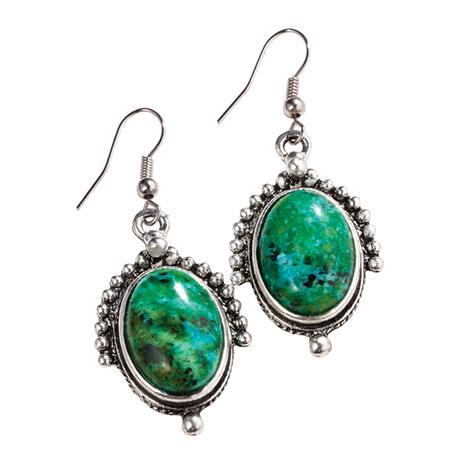 Nefertiti Chrysocolla Earrings