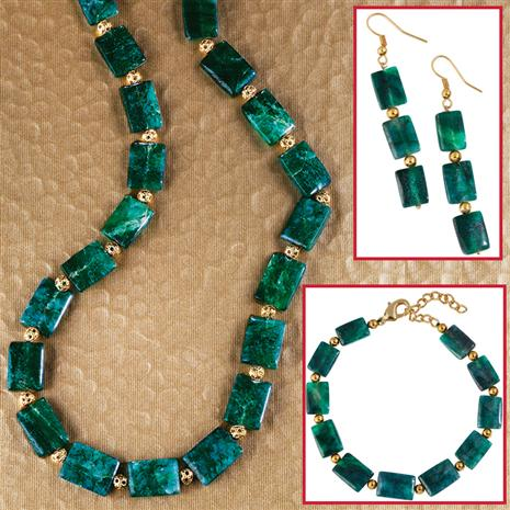 Propizio Aventurine Necklace, Bracelet & Earrings