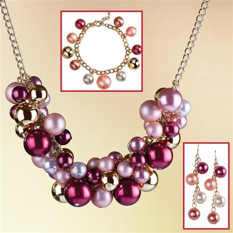 Joyful Necklace, Bracelet & Earrings Set