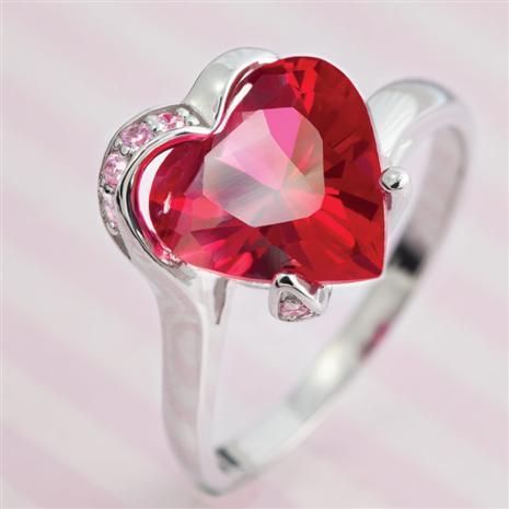 Scienza Ruby & DiamondAura Heart Ring