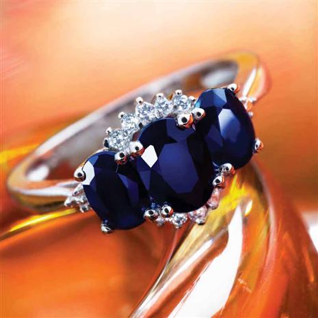 Trivium Sapphire Ring
