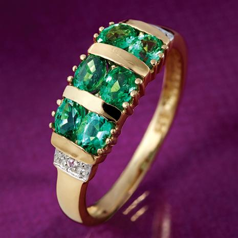 Pride of Zambia Emerald Ring