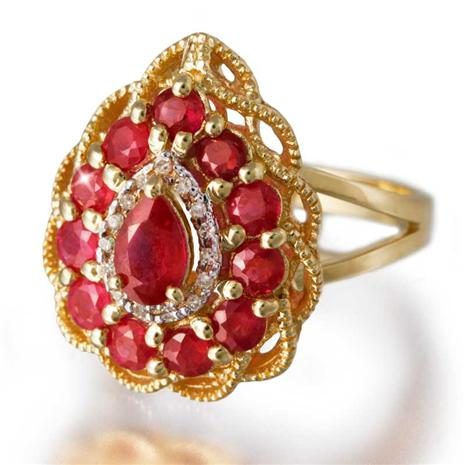 Fire & Ice Ruby and Diamond Ring