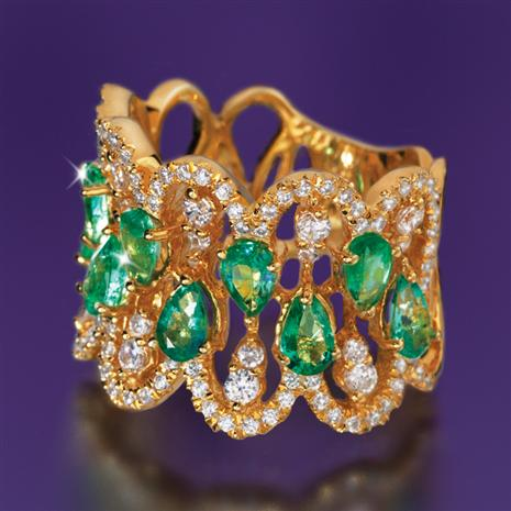 Gloriana Zambian Emerald Ring