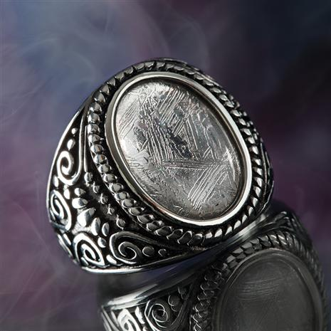 Stauer I V A Meteorite Mens Ring