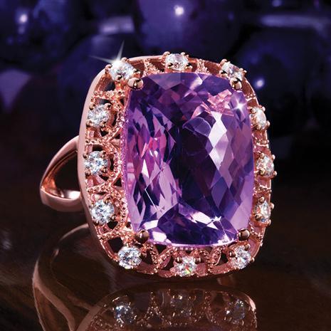 Amante Amethyst Ring