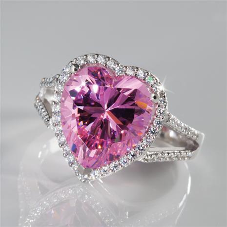 Pure Heart Diamond Aura Ring