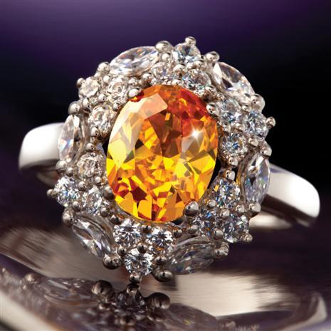 Sunfire Diamond Aura Ring