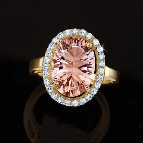 Pink Champagne Pamirite Ring