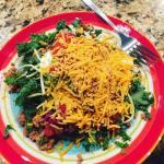 LUNCH Taco Salad 8 oz seasoned ground turkey 1 cuphellip