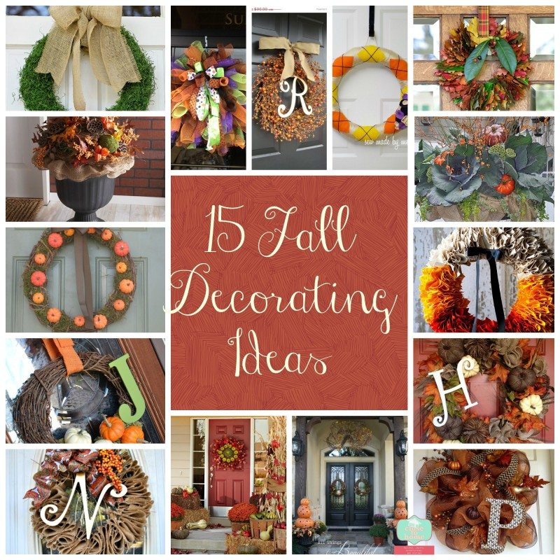 16 Fall Wreath Ideas from Pinterest