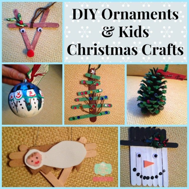 Diy ornaments and kids christmas crafts close to home Christmas crafts for kids to make at home