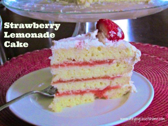 Strawberry Lemonade Cake Recipe for my birthday - Close To ...
