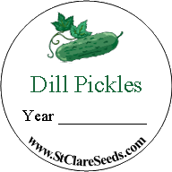 Round Canning Jar Labels - St. Clare Heirloom Seeds