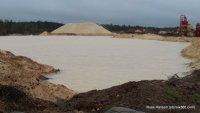 Frac sand mine in Grantsburg, WI near the St. Croix River