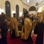 Procession of priests at Vespers.