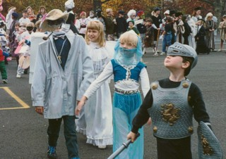 Alex Mucha as Invisible Man in 1993 Haddon Heights Halloween parade
