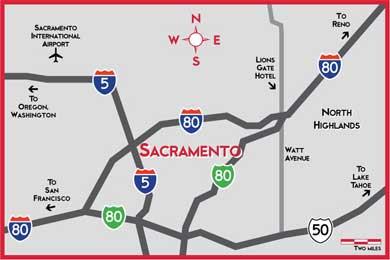 Map of greater Sacramento