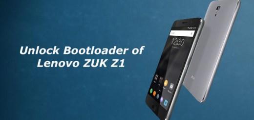 Unlock Bootloader of Lenovo ZUK Z1