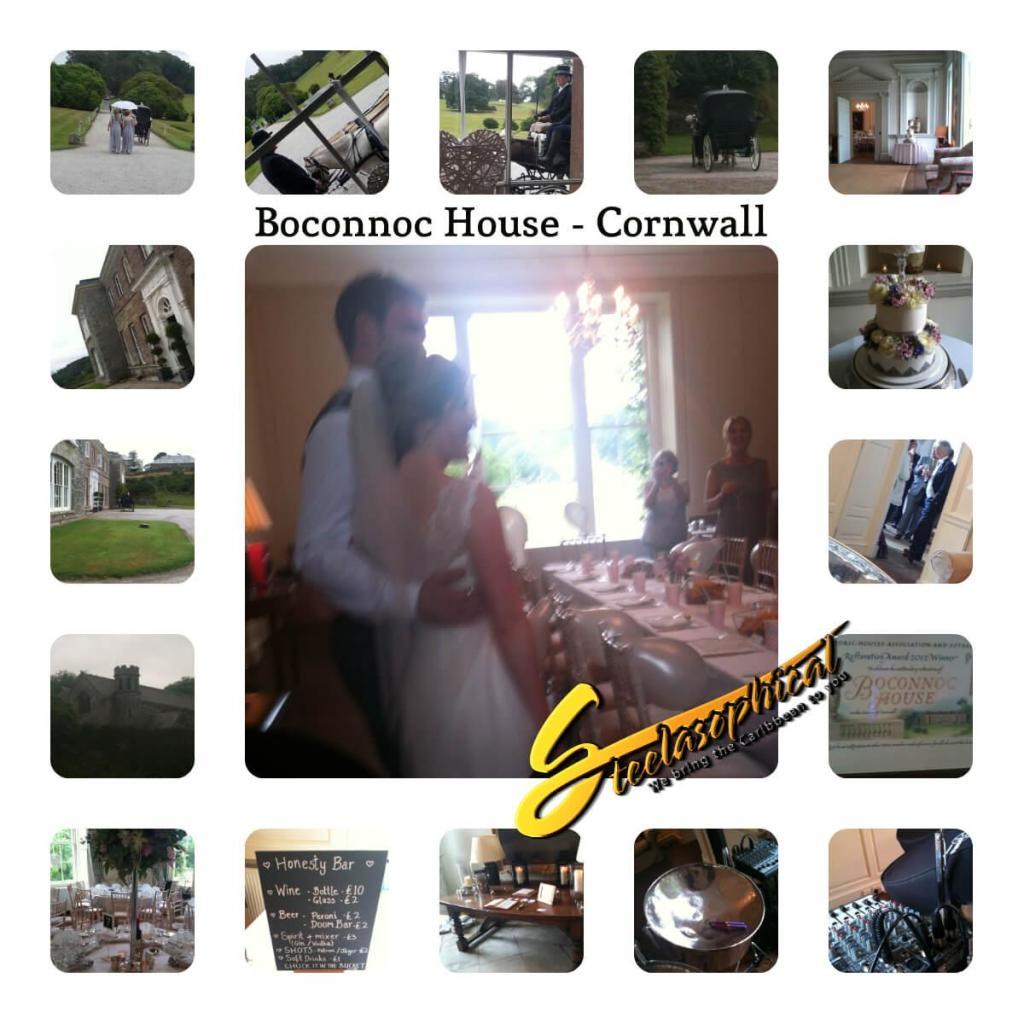 wedding steel band Boconnoc House cornwall