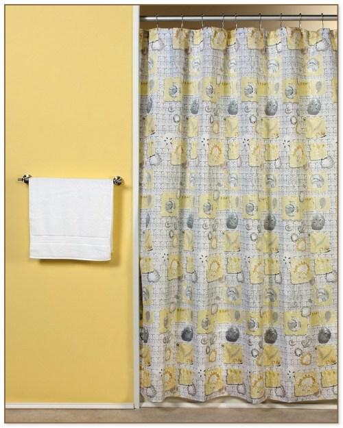 Medium Of Yellow Shower Curtain