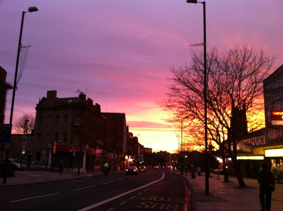 Sunrise in London, England - reminding us of our time with the Lord in the morning!