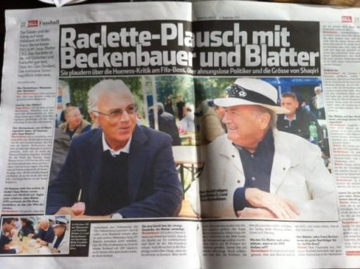 Blatter und Beckenbauer im Blick