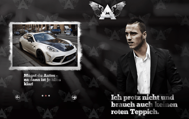 Website von Marko Arnautovic