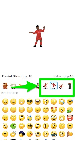 Trainer und Spieler vom FC Liverpool als Emojis bei Skype