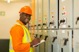 Service Technician Monitors System Performance