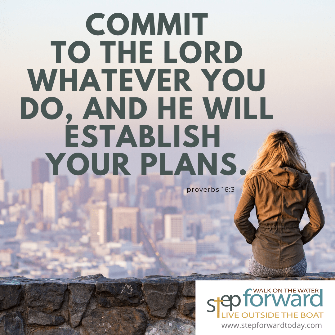 Commit to the Lord whatever you do, and he will establish your plans. - Proverbs 16:3