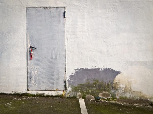 Übermalte Tür