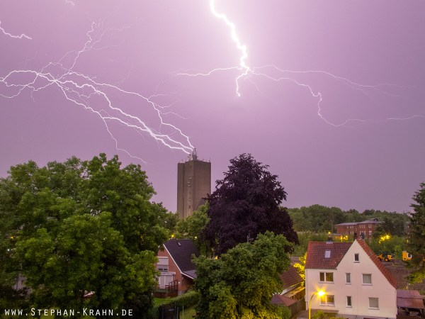 Gewitter über Bad Oldesloe