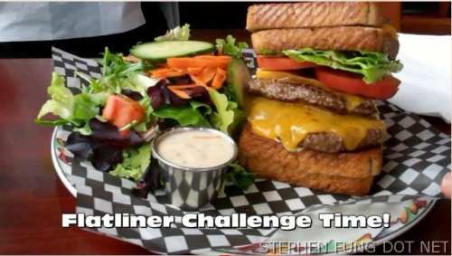 I Flatlined at Hog Shack Cookhouses Flat Line Burger Challenge