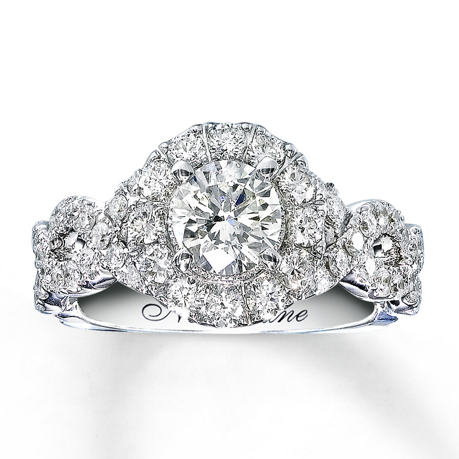 diamond engagement ring 1 5 8 ct tw round cut 14k white gold 1 neil lane wedding bands Hover to zoom