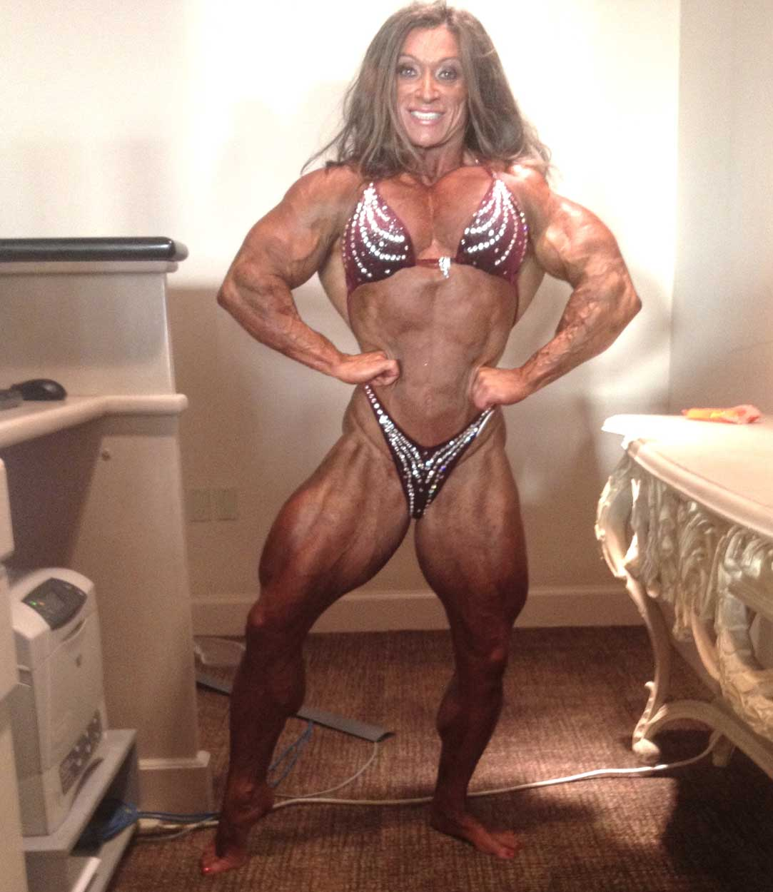 steroids body of a woman